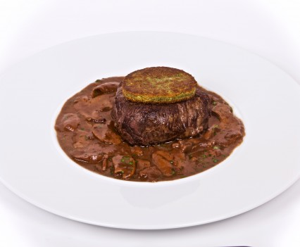 Beef fillet with Porcini mushrooms and shallot sauce